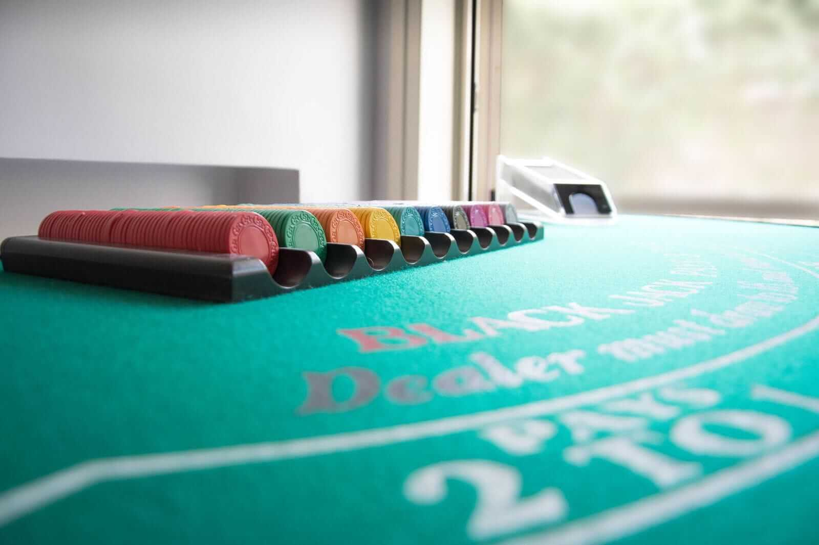 noleggio tavoli da blackjack